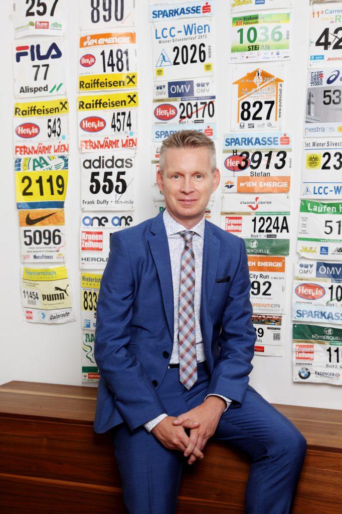 Stefan Langer mit Marathonstartnummern