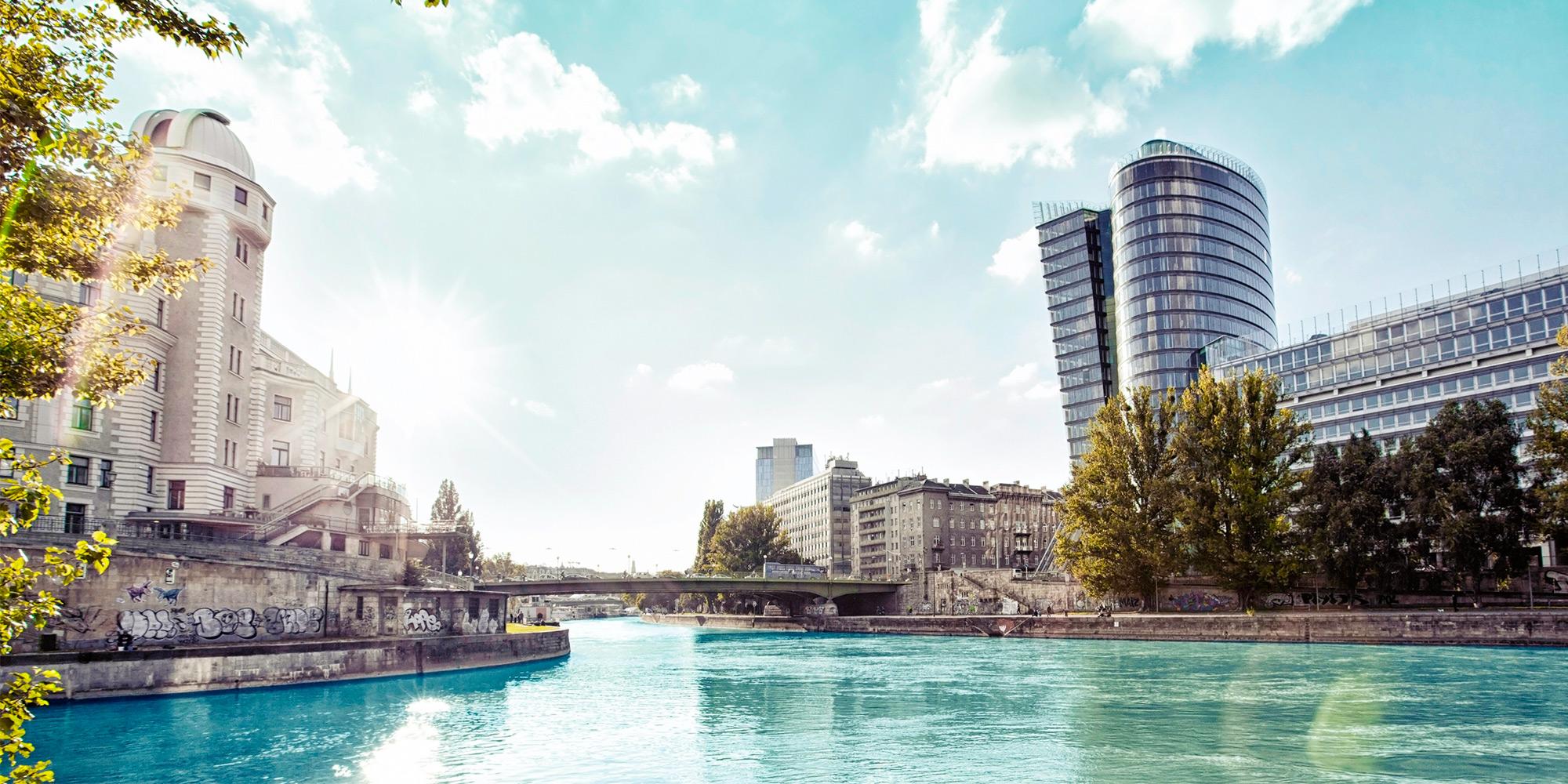 Wien Donaukanal Urania