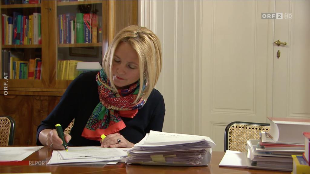 Anne-Marie Kosesnik-Wehrle im Interview mit ORF Report am 20.02.2018